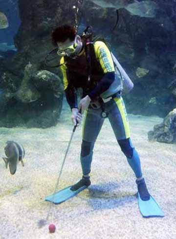 Golfing Underwater