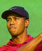 Tiger Woods With Tongue