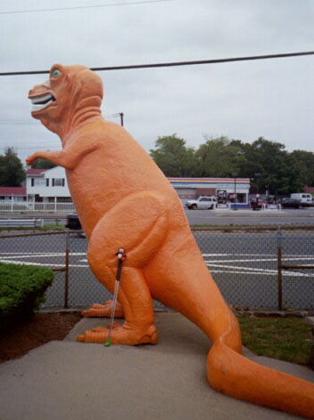 Orange Dinosaur In Saugus, MA