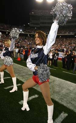 Meghan the Patriots Cheerleader