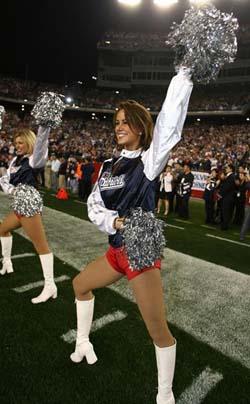 Meghan the Patriots Cheerleader
