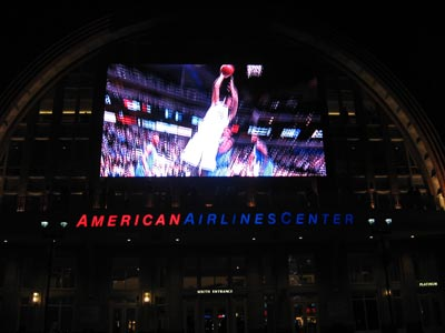 Giant TV at the AAC