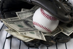Glove with money